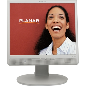 "Planar PL1711M 17"" LCD Monitor - 4:3 - 5 ms - 1280 x 1024 - 16.7 Million Colors - 250 Nit - 1,000:1 - Speakers - DVI - VGA - White"
