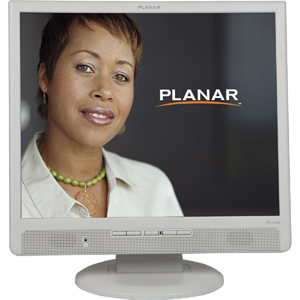 Planar PL1910M-WH 19&quot; LCD Monitor - 4:3 - 5 ms - 1280 x 1024 - 16.7 Million Colors - 250 Nit - 1,000:1 - Speakers - DVI - VGA - White - RoHS