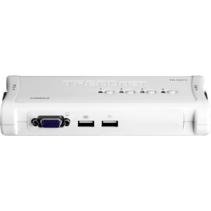 TRENDnet TK-407K 4-Port USB KVM Switch - 4 x 1 - 4 x HD-15 Keyboard/Mouse/Video