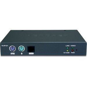 TRENDnet TK-IP101 1-Port KVM Switch over IP - 1 x 1 - 1 x HD-15 Monitor, 1 x Type B USB - 0U