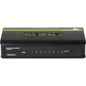 TRENDnet TE100-S8 8-port Fast Ethernet Switch - 8 x 10/100Base-TX