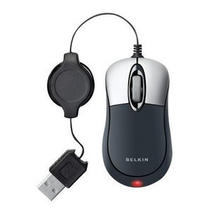 Belkin Retractable Mouse - Optical - USB