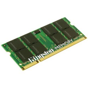 Kingston 2GB DDR2 SDRAM Memory Module - 2GB (2 x 1GB) - 800MHz DDR2-800/PC2-6400 - DDR2 SDRAM - 200-pin SoDIMM