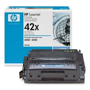 HP 42X Black Toner Cartridge - Black - Laser - 20000 Page - 1 Each
