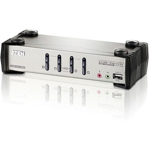 Aten CS1734B 4-Port USB KVMP Switch - 4 x 1 - 4 x HD-15 Keyboard/Mouse/Video