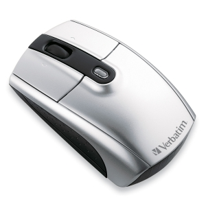 Verbatim Wireless Notebook Laser Mouse - Laser - Wireless - Radio Frequency - Silver - USB - 1600 dpi - Tilt Wheel - 3 Button(s) - Symmetrical
