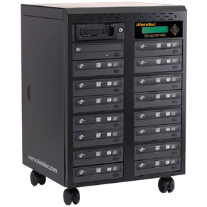 Aleratec 1:15 SLS - DVD/CD Duplicator with LightScribe - PC Connect - DVD-Writer - 20x DVD+R, 20x DVD-R, 8x DVD+R, 8x DVD-R, 12x DVD-RAM, 48x CD-R - 8x DVD+R/RW, 6x DVD-R/RW, 32x CD-RW - USB