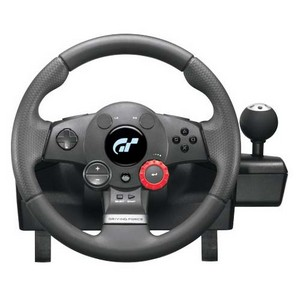 Logitech Driving Force GT Steering Wheel - Cable - PlayStation 2, PlayStation 3