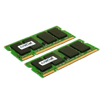 Crucial 4GB DDR2 SDRAM Memory Module - 4GB (2 x 2GB) - 800MHz DDR2-800/PC2-6400 - Non-ECC - DDR2 SDRAM - 200-pin SoDIMM