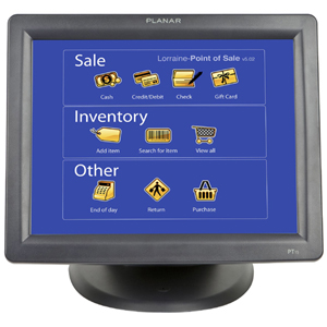"Planar PT1500MX Touchscreen LCD Monitor - 15"" - 5-wire Resistive - 1024 x 768 - 4:3 - 0.3mm - Black"