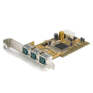 StarTech.com 3 Port PCI 12V PoweredUSB Adapter Card - USB PlusPower - 3 x Male USB 2.0 Powered USB