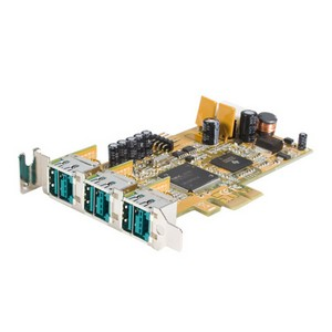 StarTech.com 3 Port LP PCI Express 12V PoweredUSB Adapter Card - USB PlusPower - 3 x Male USB 2.0 Powered USB