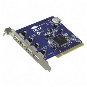 Belkin Hi-Speed USB 2.0 5-Port PCI Card - 4 x 4-pin Type A USB 2.0 USB External, 1 x 4-pin Type A USB 2.0 USB Internal - Plug-in Card