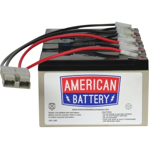 ABC RBC25 Replacement Battery Cartridge #25 - 12V DC - Maintenance-free Sealed Lead Acid Hot-swappable