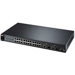 Zyxel ES-2024PWR Managed Ethernet Switch with PoE - 24 x 10/100Base-TX, 2 x 10/100/1000Base-T