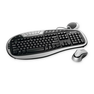 Verbatim Wireless MultiMedia Keyboard and Mouse - USB Wireless RF Keyboard - English (US) - Black, Silver - USB Wireless RF Mouse - Optical - 3 Button - Scroll Wheel - Black, Silver