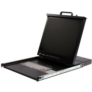 StarTech.com 1U 17 Rackmount LCD Console w/16 Port KVM Switch - 16 Computer(s) - 17 Active Matrix TFT LCD - 16 x HD-15 Keyboard/Mouse/Video - 1U Height