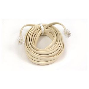 Belkin Pro Series Phone Cable - RJ-11 Male - RJ-11 Male - 100ft - Ivory