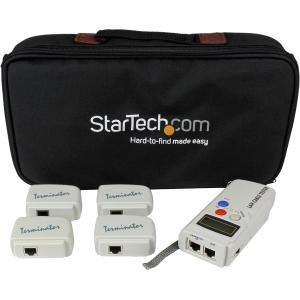 StarTech.com Professional RJ45 Network Cable Tester with 4 Remote Loopback Plugs - 2 x RJ-45 Female