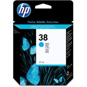 HP 38 Cyan Vivera Ink Cartridge - Cyan - Inkjet - 1 Each