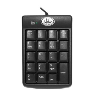 Gear Head KP2200U 19-Key Numeric USB Keypad
