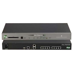 Digi Passport 32-Port Console Server with Modem - 32 x RJ-45  , 2 x RJ-45  , 1 x RJ-11  , 1 x