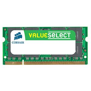 Corsair Value Select 4GB DDR2 SDRAM Memory Module - 4GB (2 x 2GB) - 667MHz DDR2-667/PC2-5300 - Non-ECC - DDR2 SDRAM - 200-pin SoDIMM