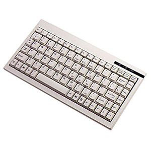 Adesso ACK-595UW Mini keyboard with embedded numeric keypad - USB - QWERTY - 89 Keys - White