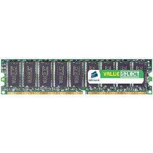 Corsair Value Select 2GB DDR SDRAM Memory Module - 2GB (2 x 1GB) - 400MHz DDR400/PC3200 - Non-ECC - DDR SDRAM - 184-pin