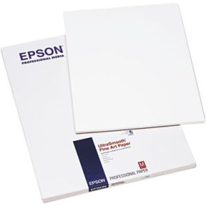 "Epson Fine Art Paper - 17"" x 22"" - Smooth - 25 Sheet - White"