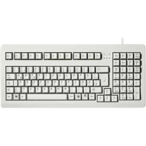 Cherry G81-1800 Series Compact Keyboard - PS/2 - QWERTY - 104 Keys - Light Gray - English (US)