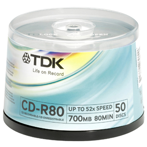 TDK 48x CD-R Media - 700MB - 50 Pack