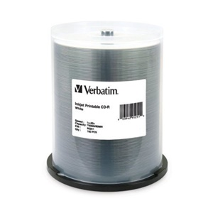 Verbatim 52x CD-R Media - Printable - 700MB - 100 Pack