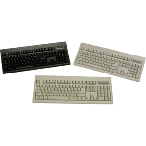 Keytronic KT800P210PK Keyboard - PS/2 - 104 Keys - Black