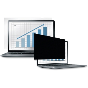 "Fellowes Laptop/Flat Panel Privacy Filter - 19.0"" Black - 19"" LCD - Notebook, Monitor"