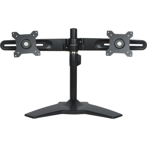 Planar AS2 Black Dual Monitor Stand - Up to 66lb - Up to 24&quot; LCD Monitor - Black - Desk-mountable