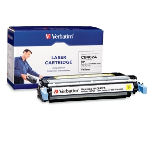 Verbatim HP CB402A Compatible Yellow Toner (CP4005) - Yellow - Laser - 7500 Page - 1 Pack