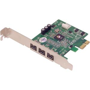 SIIG NN-FW0012-S1 FireWire Adapter - 3 x 9-pin FireWire 800 Female IEEE 1394b FireWire - Plug-in Card - Retail