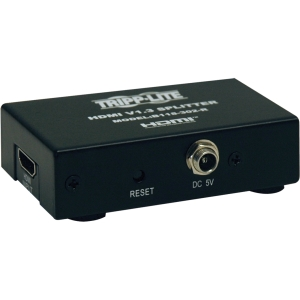 Tripp Lite 2-Port HDMI DVI-D Splitter 1080p Video Resolution TAA GSA - HDMI - 1 x Female - 2 x Female