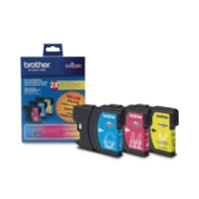 Brother High Yield Color Ink Cartridges - Cyan, Magenta, Yellow - Inkjet - 750 Page - 3 Pack