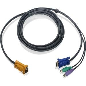 IOGEAR PS/2 KVM Cable - HD-15 Male - mini-DIN Male, HD-15 Male - 6ft