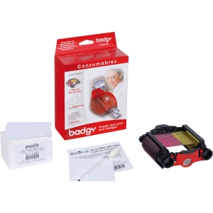Evolis Badgy Kit- Thin cards, ribbon, cleaner