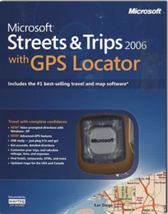 Microsoft Streets & Trips 06 With GPS Locator