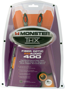 Monster THX 400 Home Theater Fiber Optic 8 Ft. Audio Cable