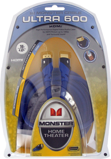 Monster Ultra 600 HDMI to HDMI Video Cable 16 ft.