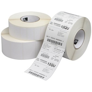 "Zebra Label Paper 4 x 2in Direct Thermal Zebra Z-Perform 1000D 0.75 in core - 4"" Width x 2"" Length - 36 / Carton - 300/Roll - 0.75"" Core - Paper - Direct Thermal - White"