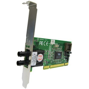 Transition Networks Fast Ethernet 100BASE-FX Ethernet Adapter - PCI - 1 x ST - 100Base-FX