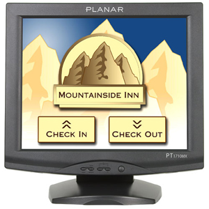 Planar PT1710MX 17&quot; LCD Touchscreen Monitor - 4:3 - 5 ms - 5-wire Resistive - 1280 x 1024 - 16.7 Million Colors (24-bit) - 1,000:1 - 228 Nit - Speakers - USB - Black - 3 Year
