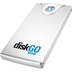 "EDGE DiskGO! 1 TB 3.5"" External Hard Drive - Brushed Aluminum - USB 2.0"