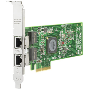 HP NC382T Dual Port Multifunction Gigabit Server Adapter - PCI Express x4 - 2 x RJ-45 - 10/100/1000Base-T - Internal